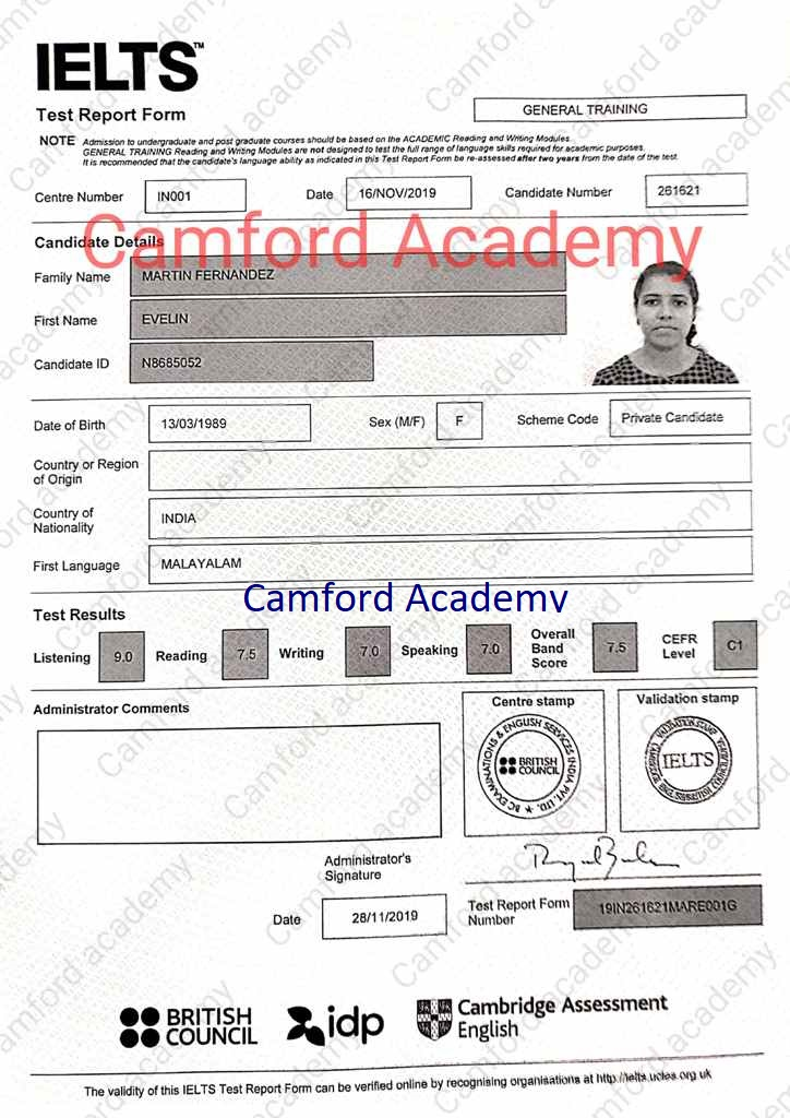 IELTS Centre in Kerala. Camford Academy IELTS India.