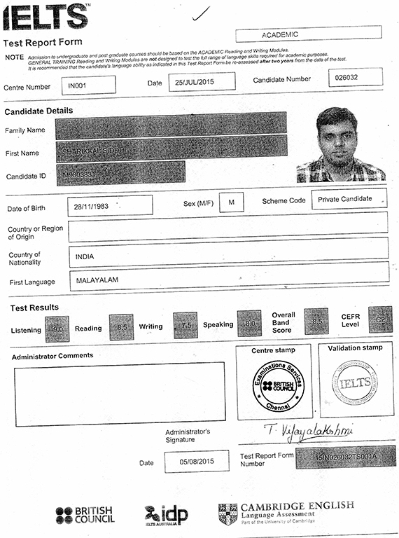 see ielts certificates    score cards   trfs and study ielts